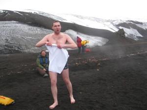 Kąpiel na Antarktydzie