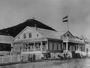 Drewniany sklep firmy Kunst & Albers, 1876
